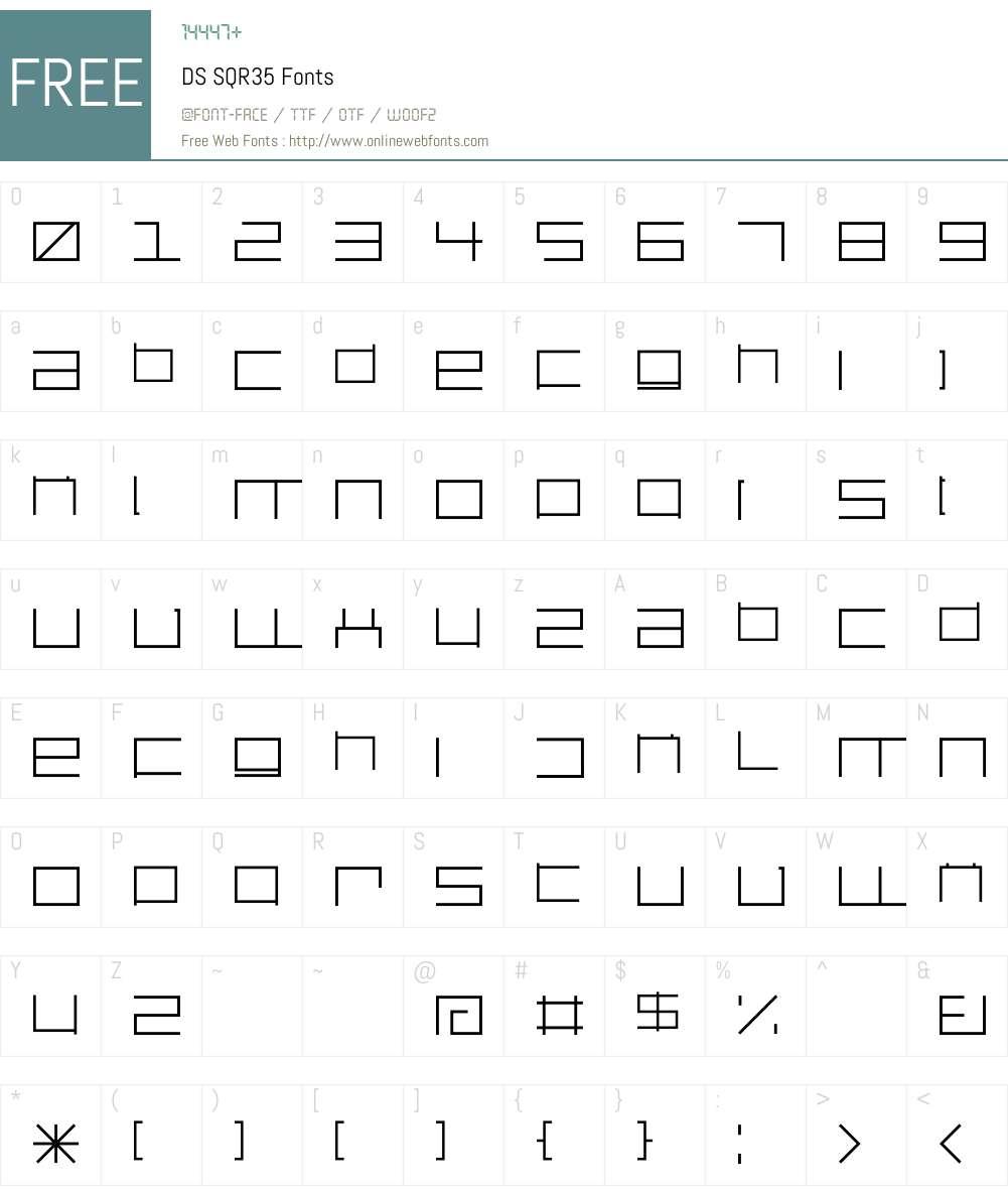 DS SQR35 Font Screenshots
