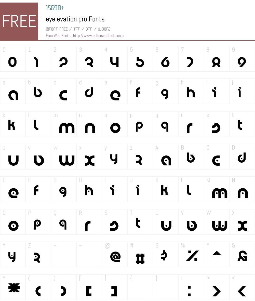 eyelevation pro Font Screenshots