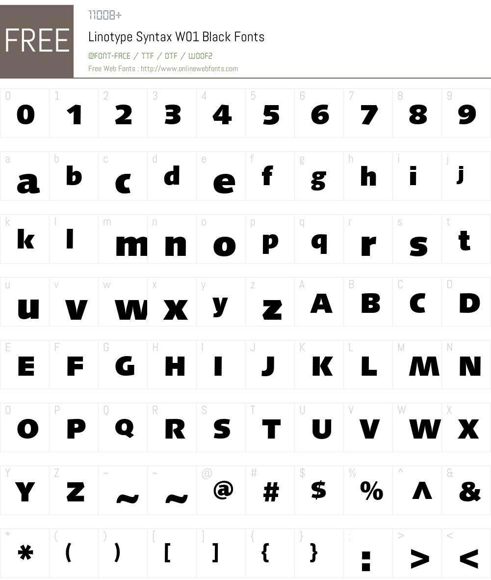 LinotypeSyntaxW01-Black Font Screenshots