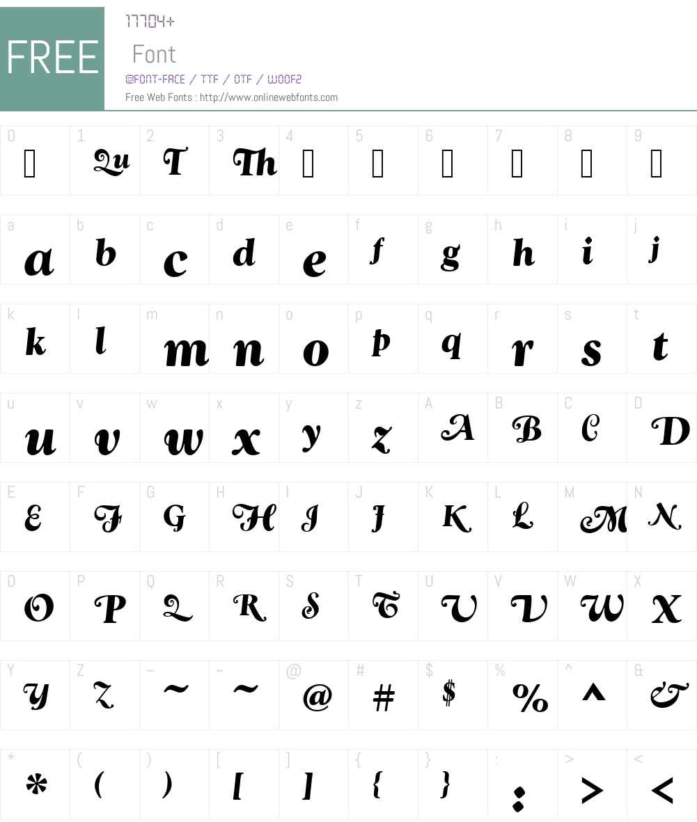 GoudySwaT Font Screenshots