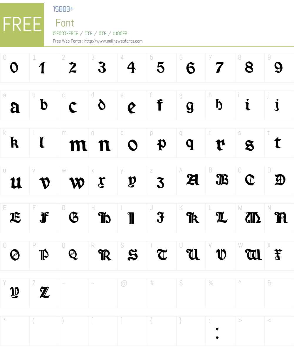 Minim Font Screenshots