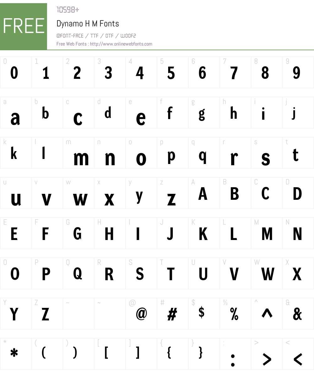 Dynamo RM Font Screenshots