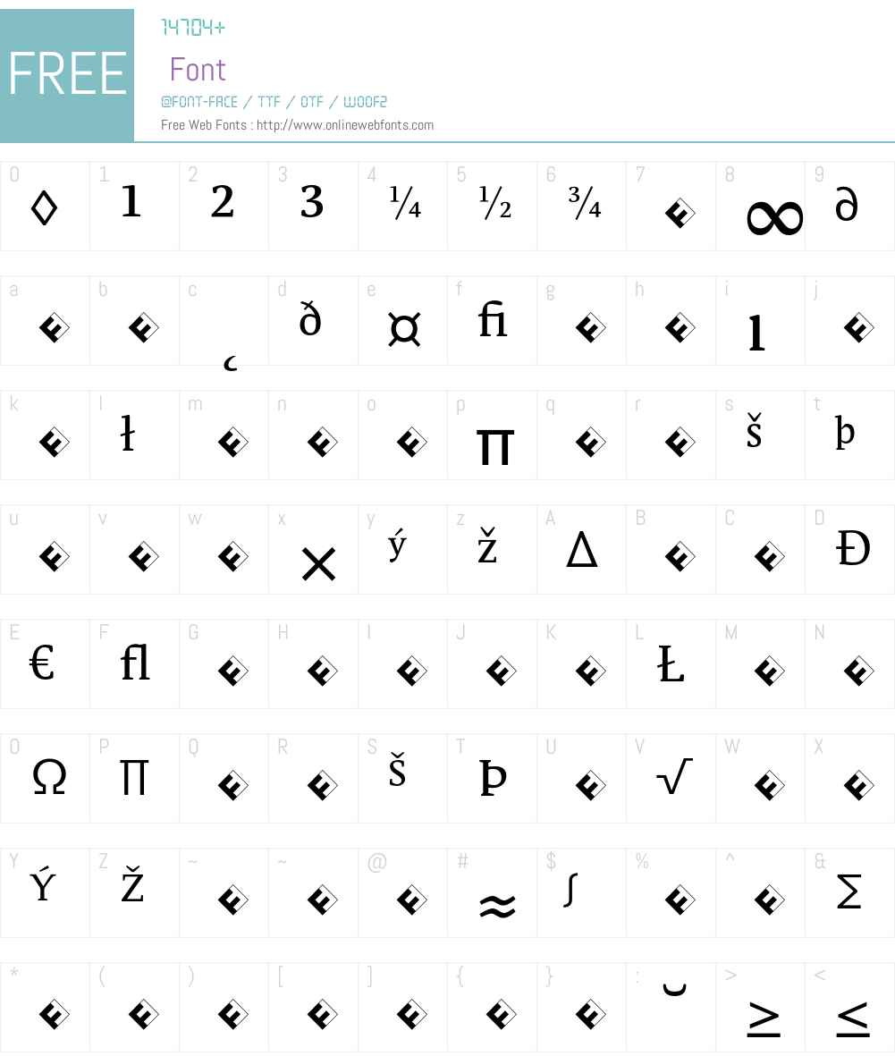 Parable-RegularExpert Font Screenshots