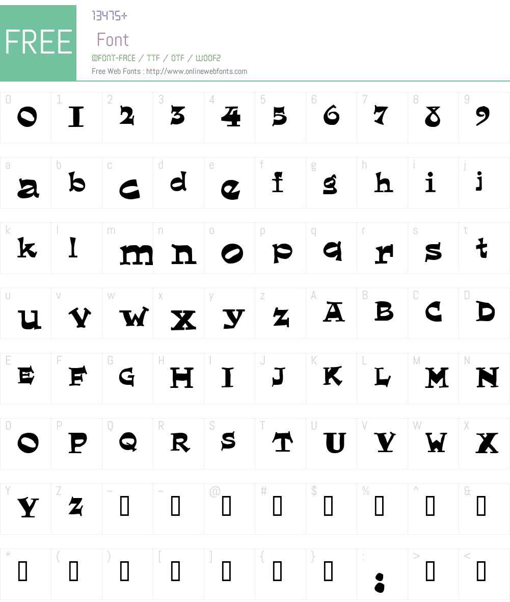 Eglantine! Font Screenshots