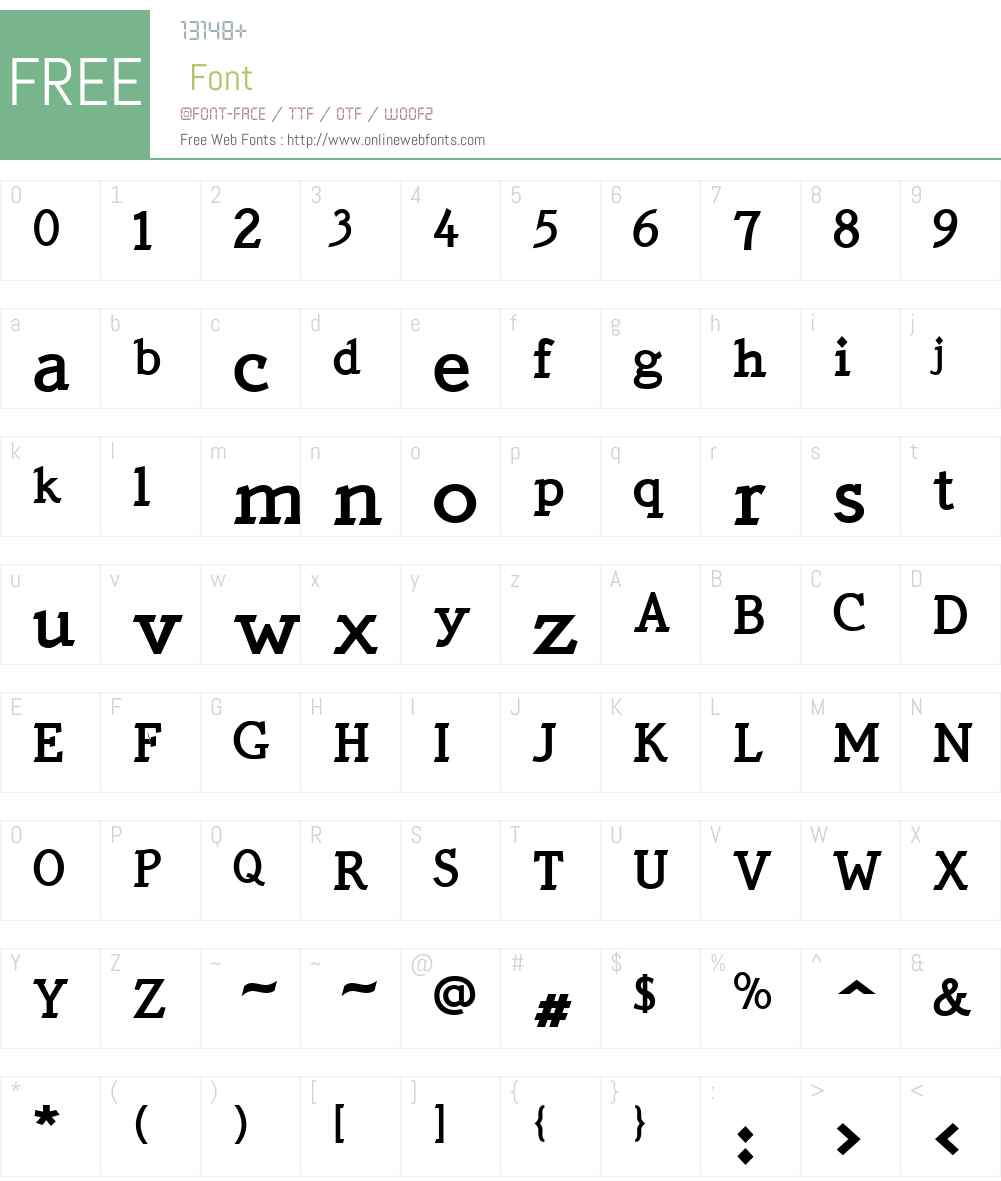QuickTypeW01-Bold Font Screenshots