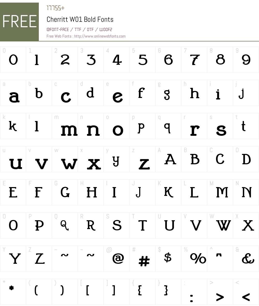 CherrittW01-Bold Font Screenshots