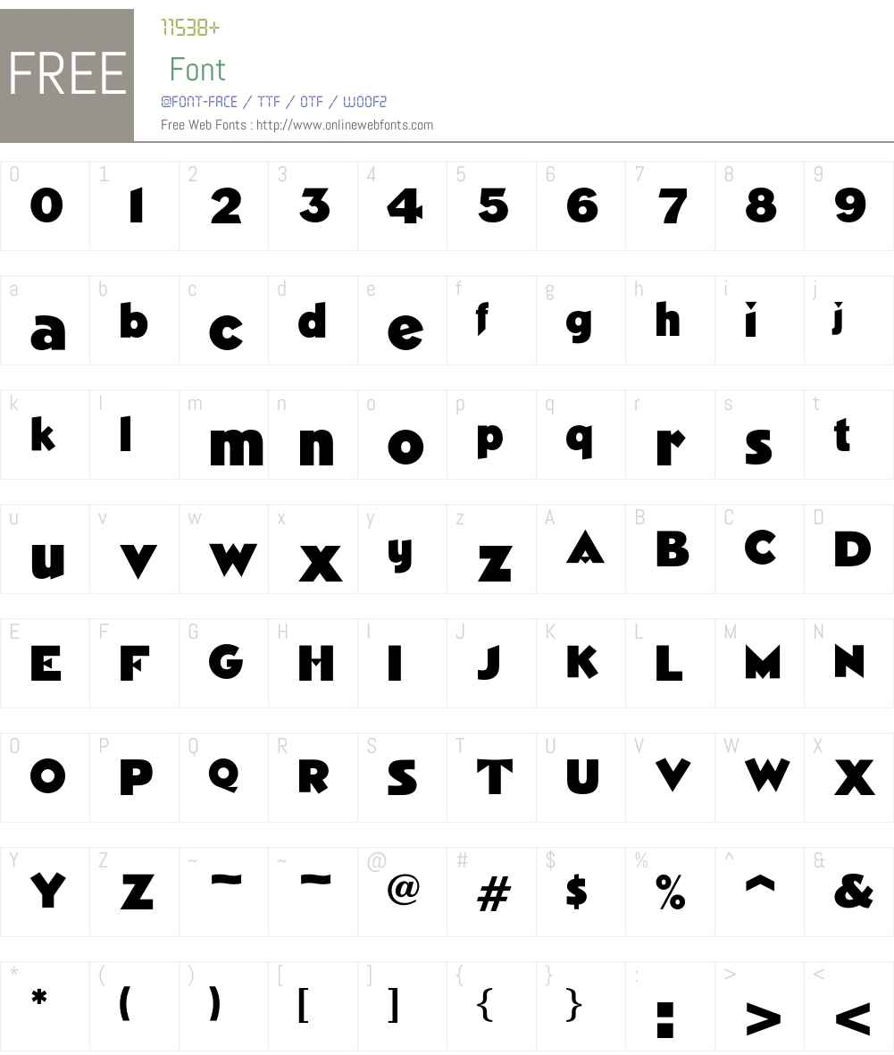 Nimrod Font Screenshots