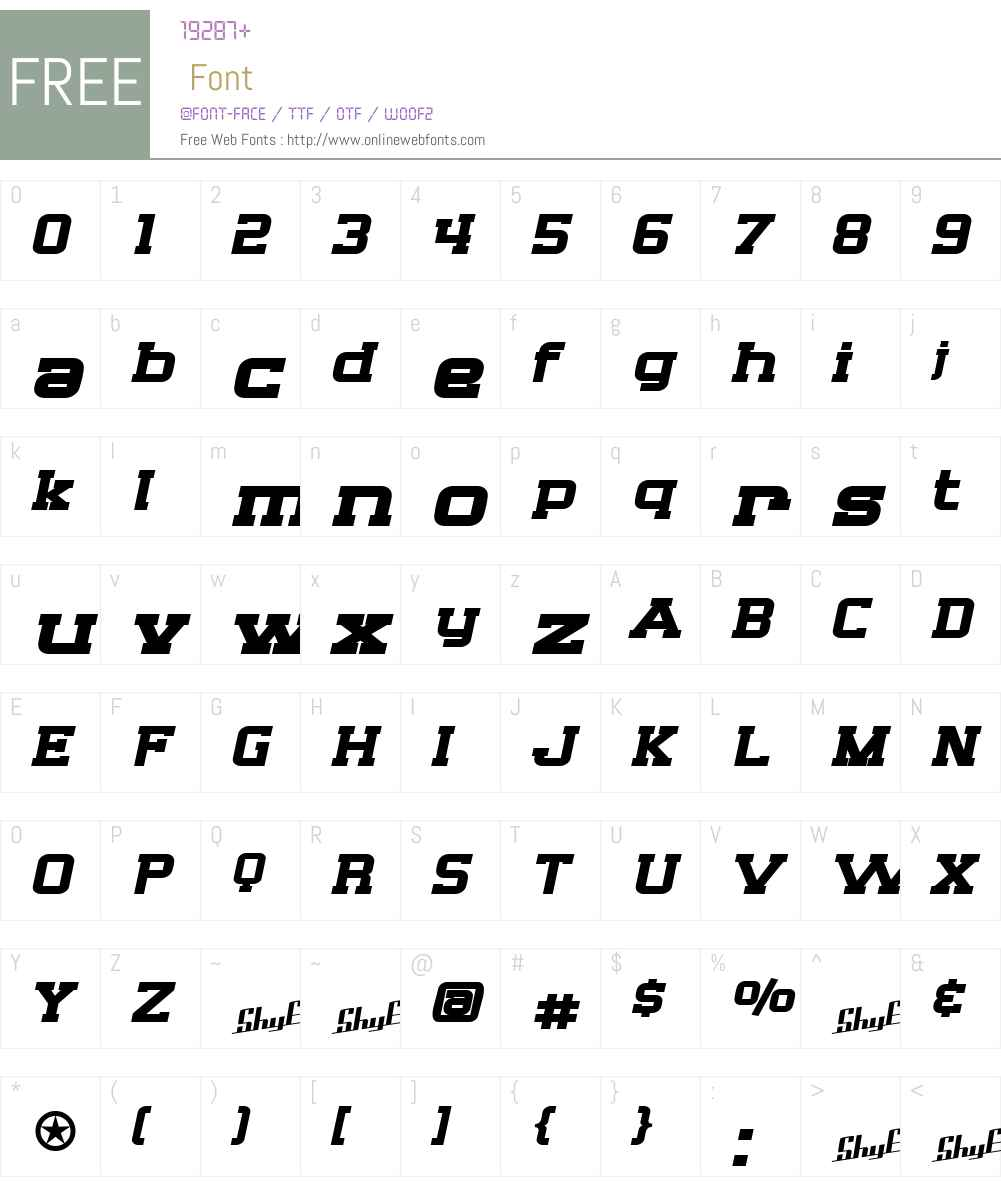 SF Big Whiskey Extended Font Screenshots