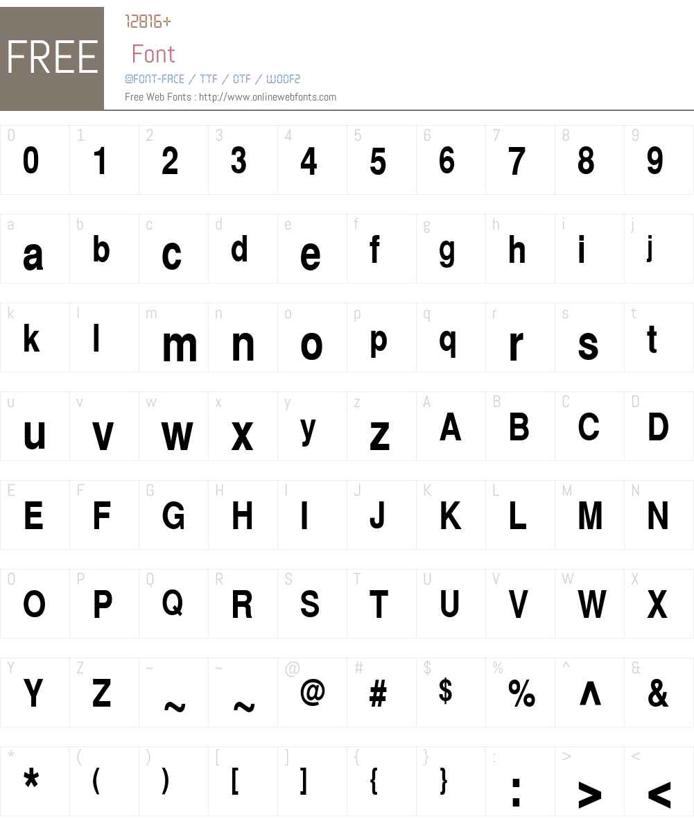 SwitzerlandNarrow Font Screenshots