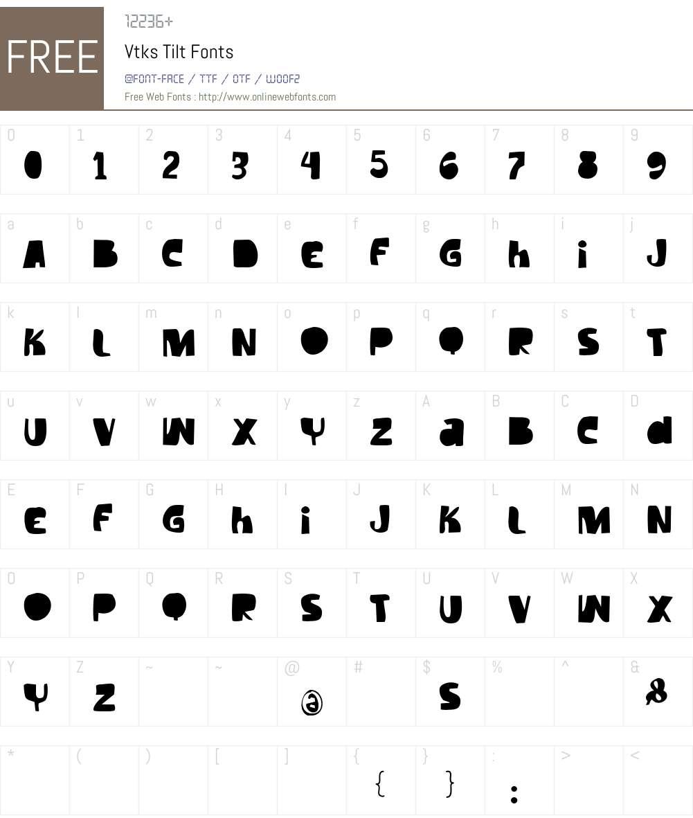 Vtks Tilt Font Screenshots