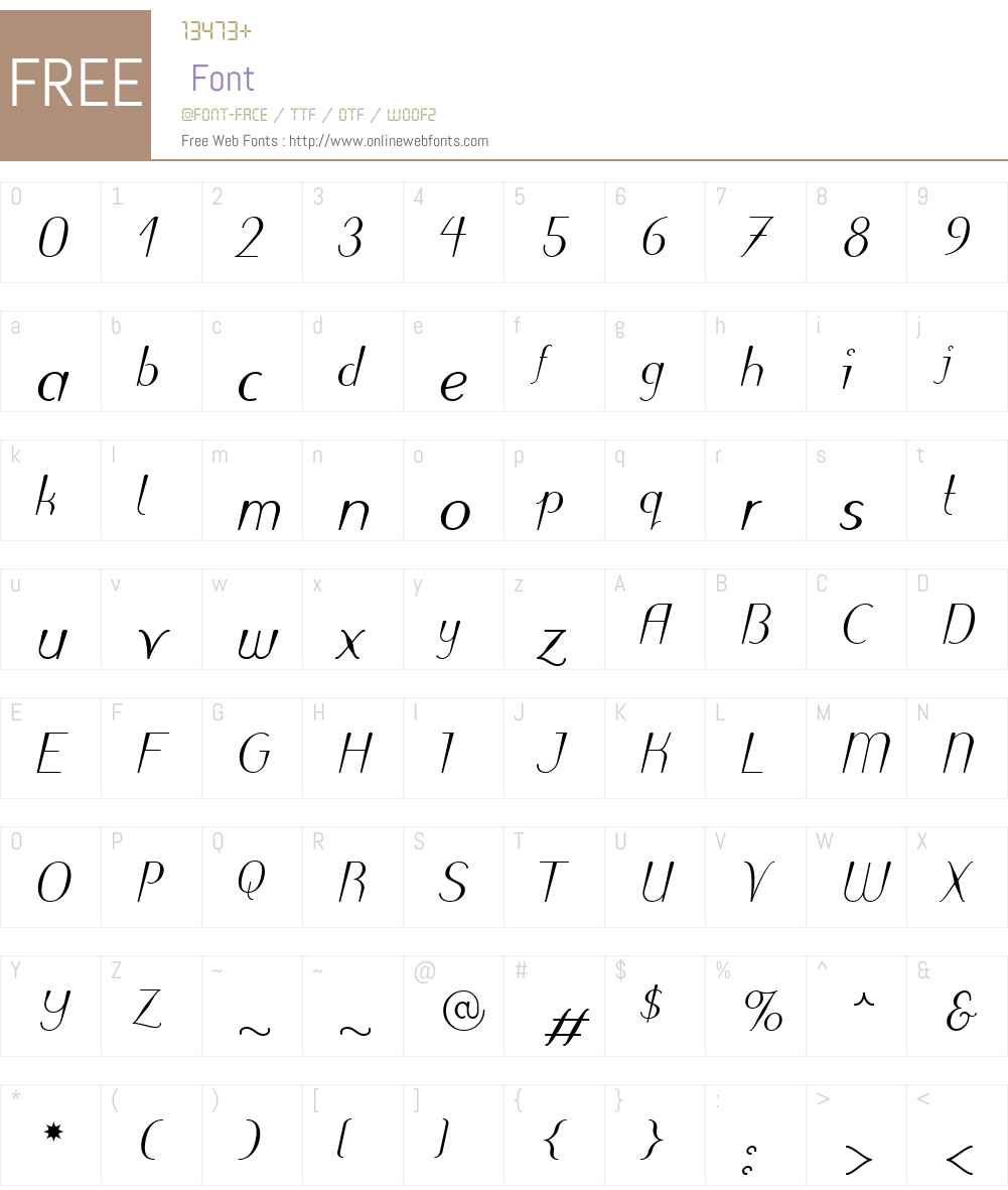 PuritasLTW01-MediumItalic Font Screenshots