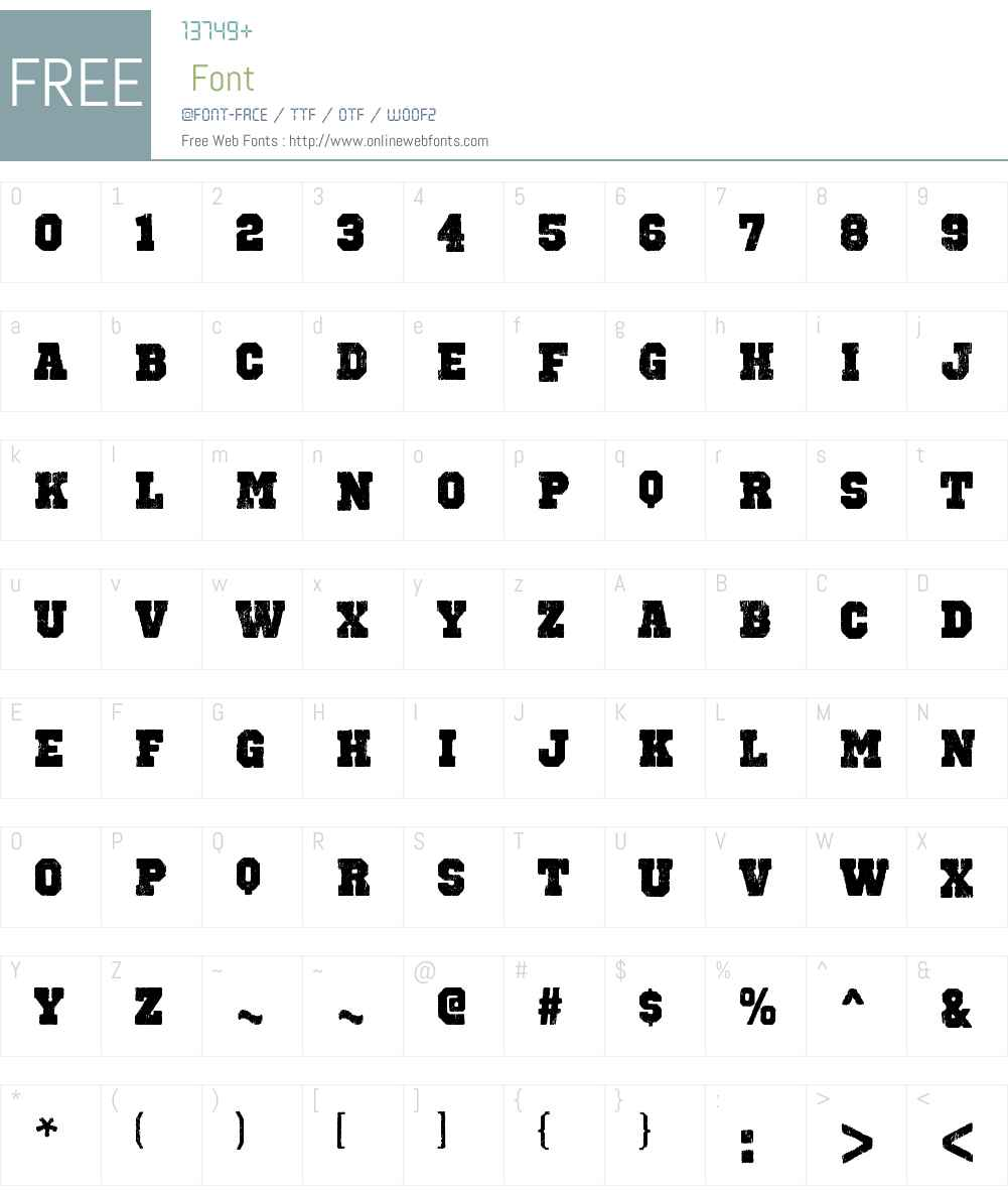 Octin Vintage Font Screenshots