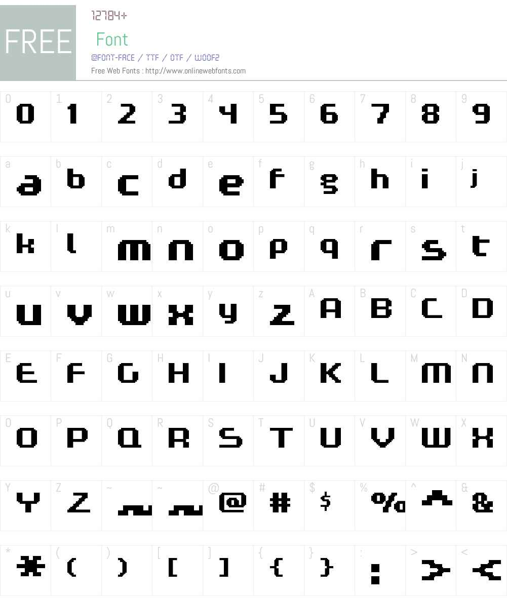 FFF Expresso Bold Extended Font Screenshots