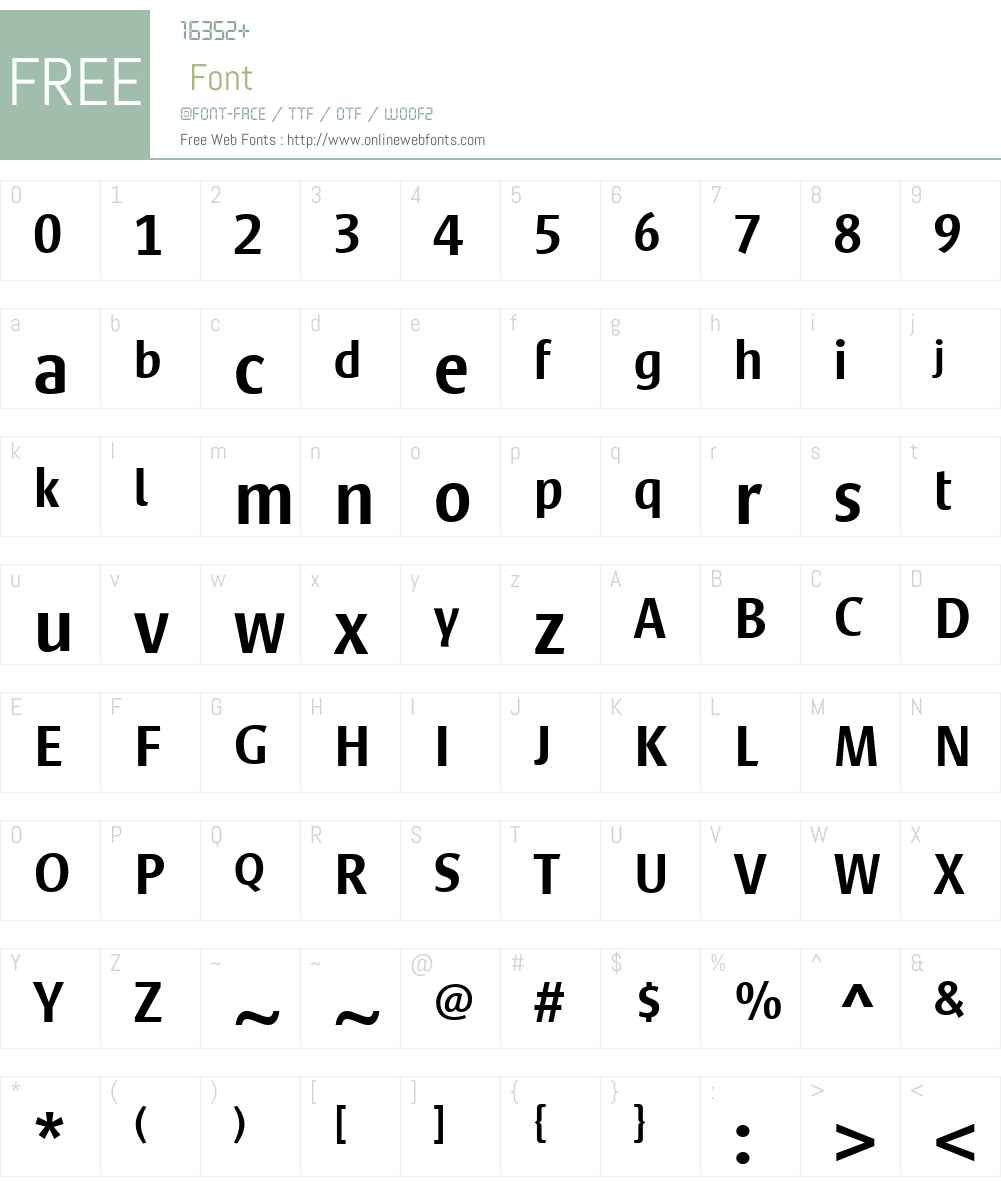 SateroSansLTW01-Medium Font Screenshots