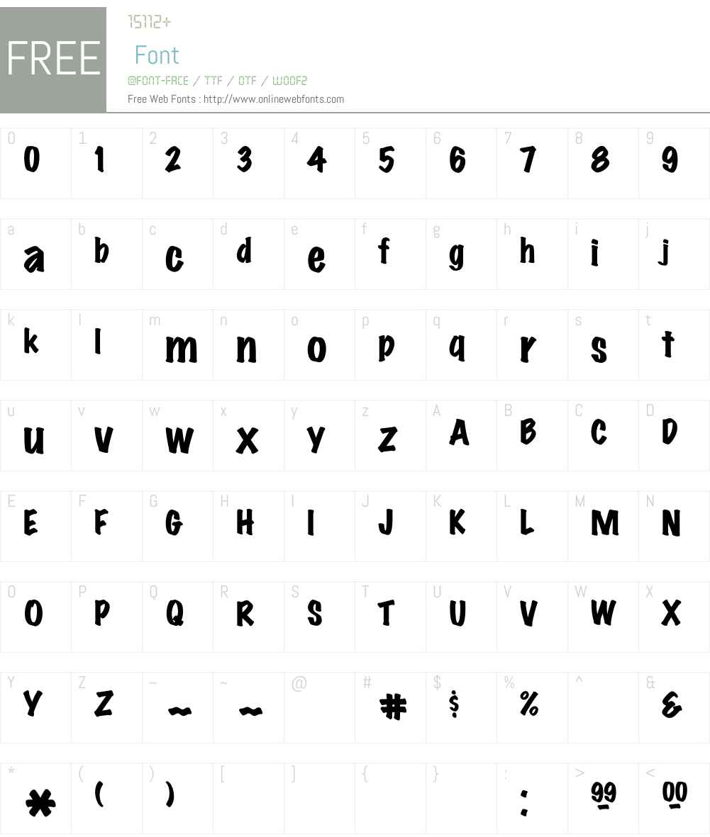 Marker Font Screenshots