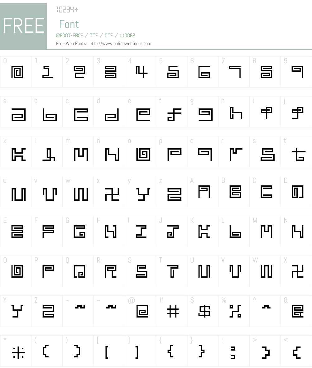 noodle Font Screenshots