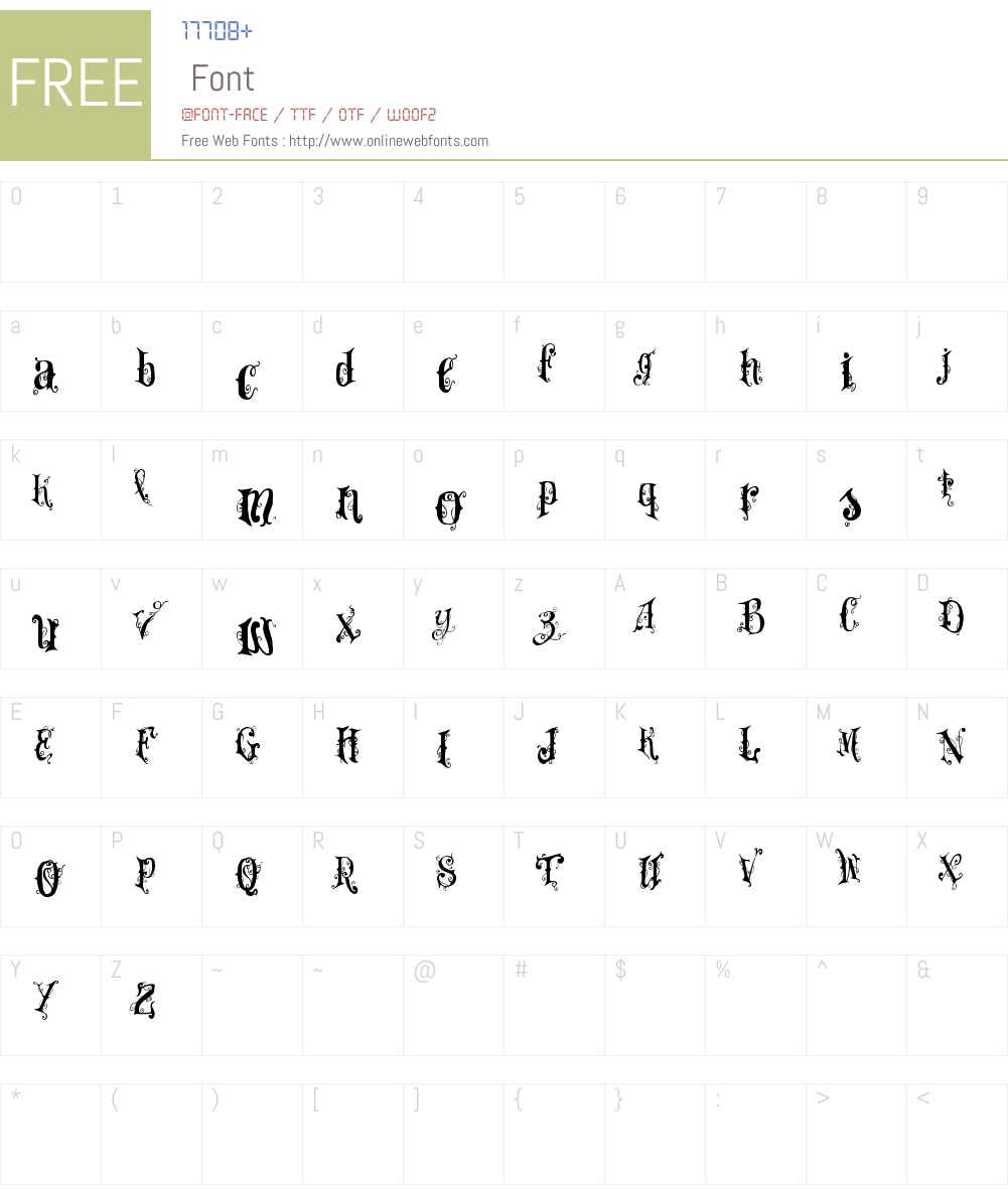 VTKS Dear Love Font Screenshots