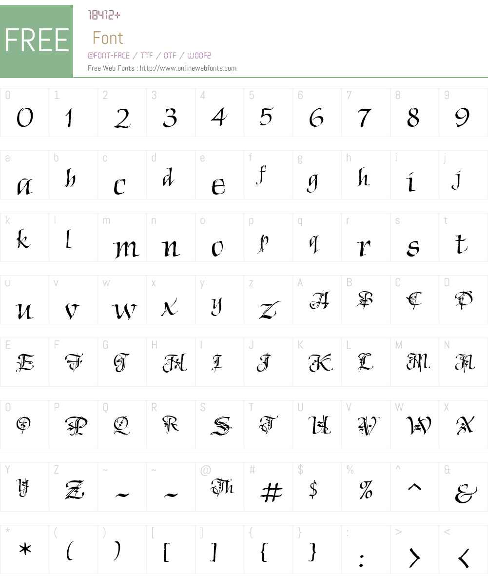 Chivalry Decorative ITCTT Font Screenshots