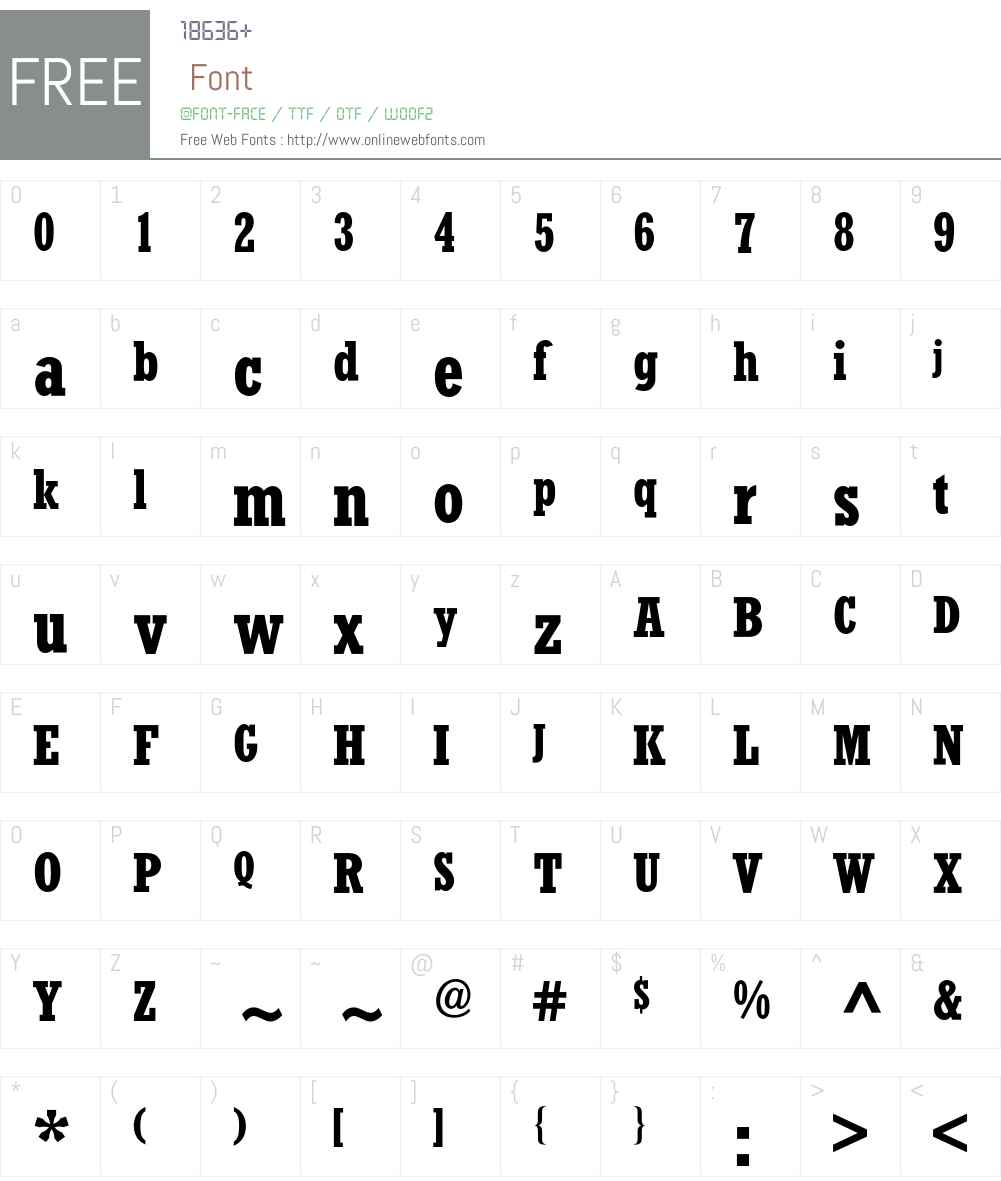 RockwellCondensedBQ Font Screenshots