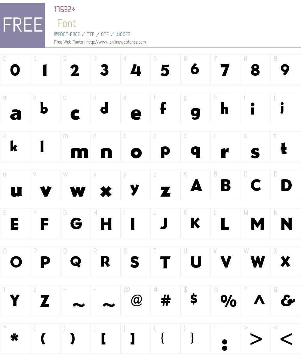 Bernhard Gothic BQ Font Screenshots