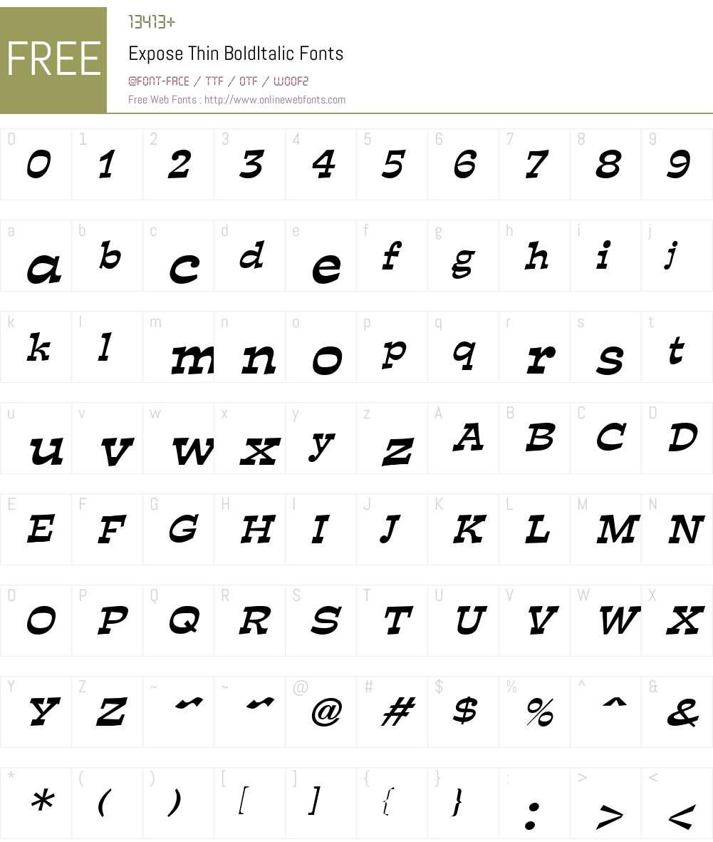 Expose Thin Font Screenshots