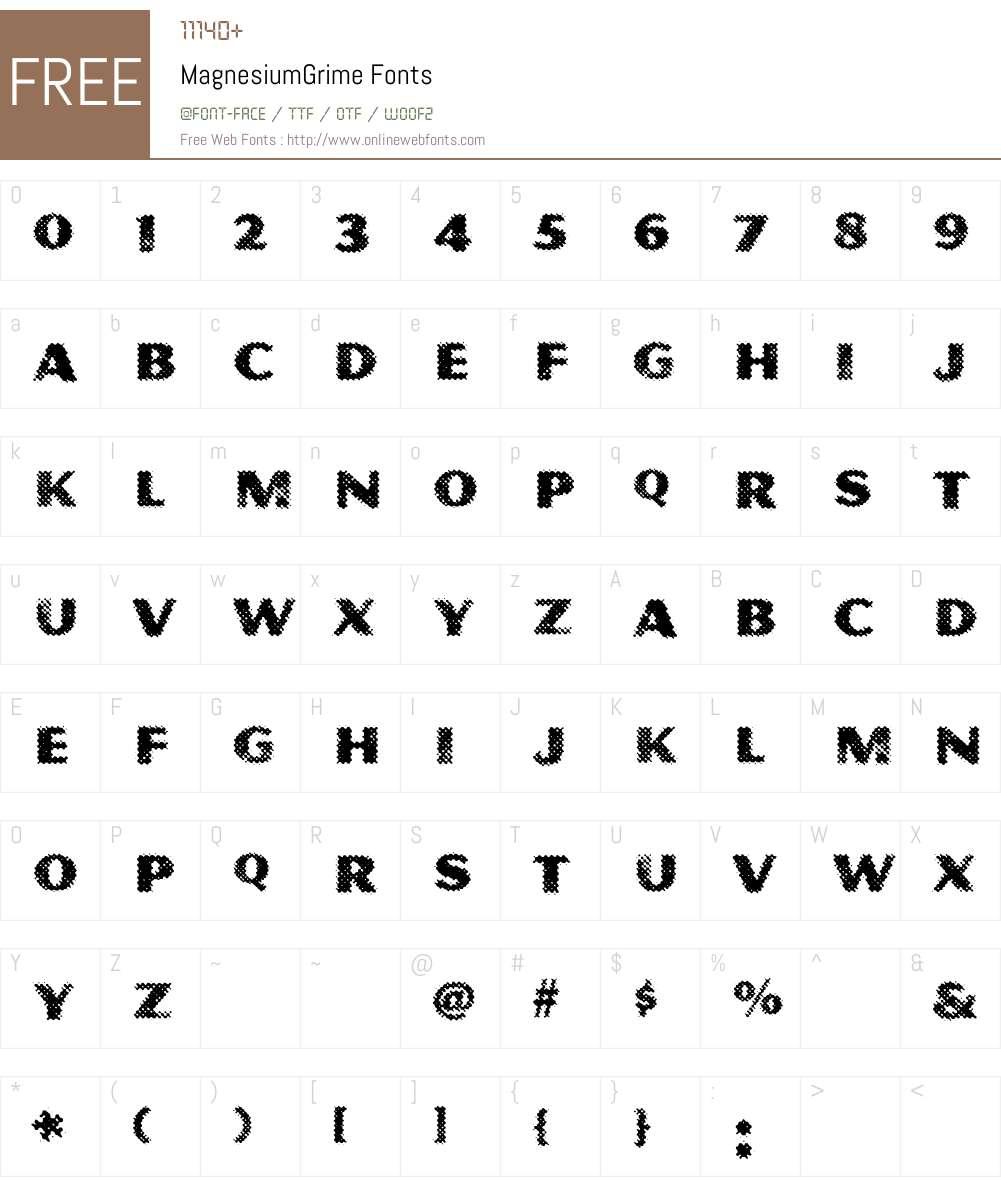 Magnesium Font Screenshots