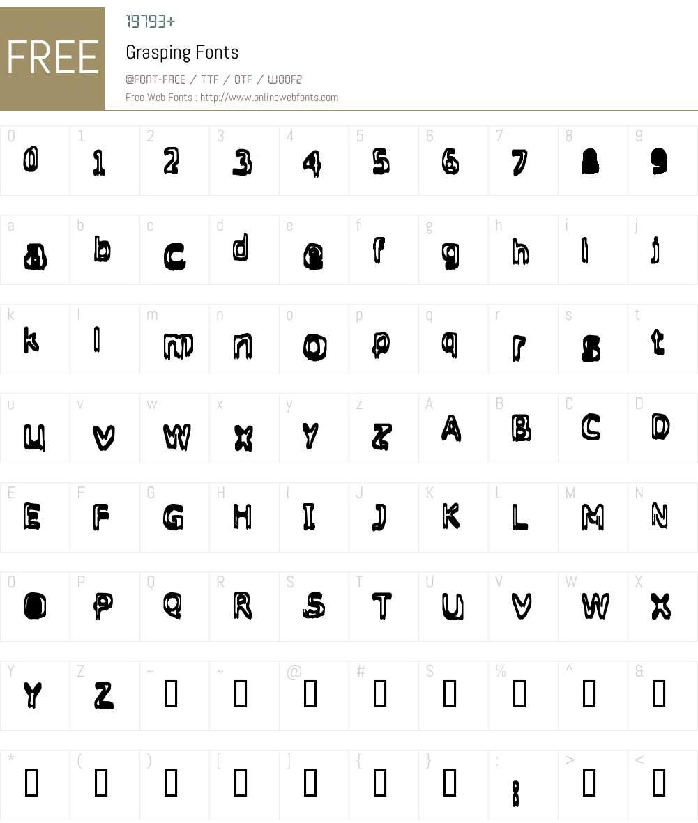 Grasping Font Screenshots