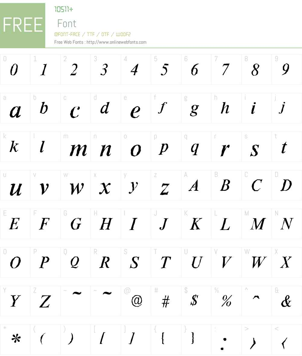 RiccioneAntique Font Screenshots