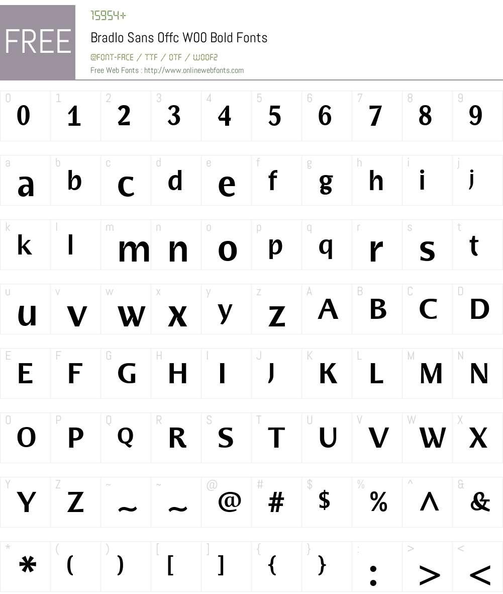 FF Bradlo Sans Font Screenshots