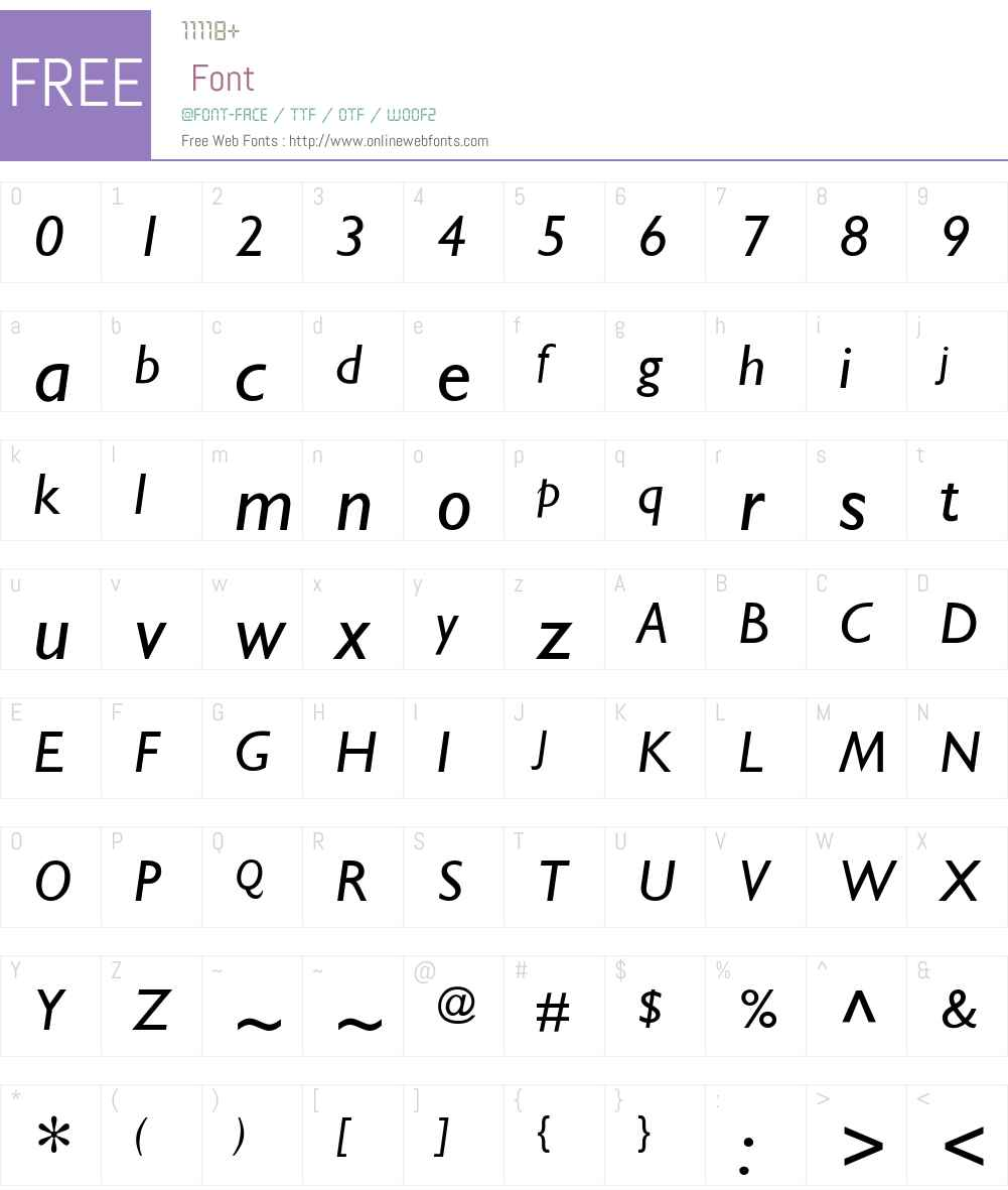 Stimmell-Italic Font Screenshots