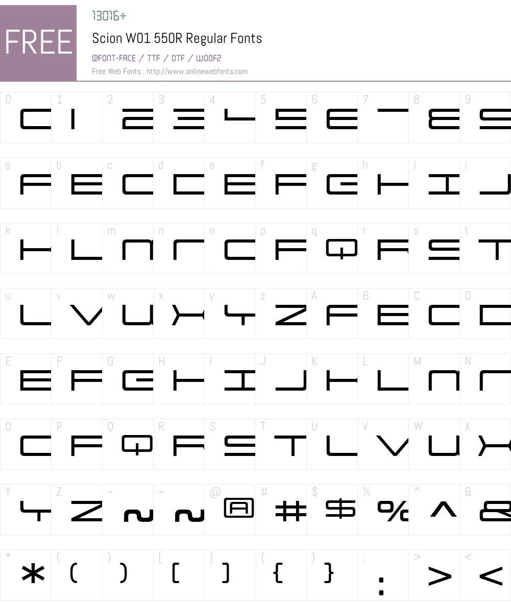 ScionW01-550RRegular Font Screenshots
