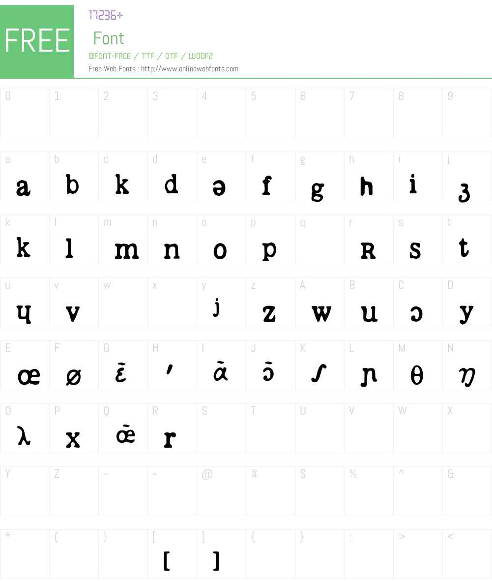 phontique Font Screenshots