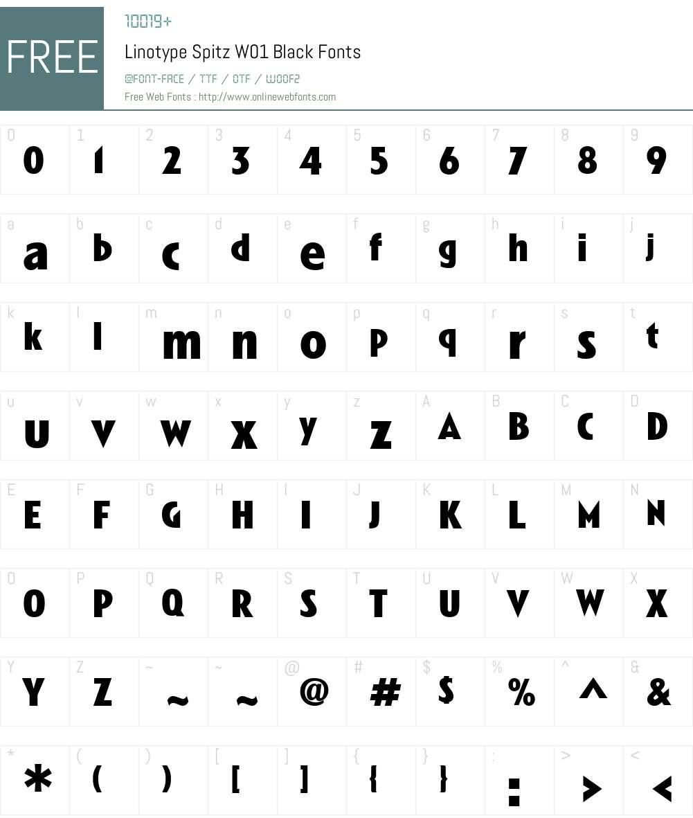 LinotypeSpitzW01-Black Font Screenshots