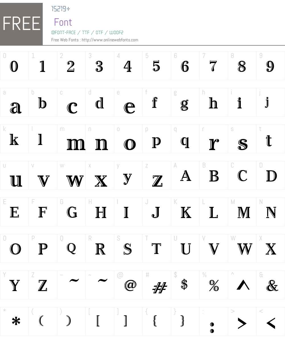 Cheltenham Hand ICG Font Screenshots