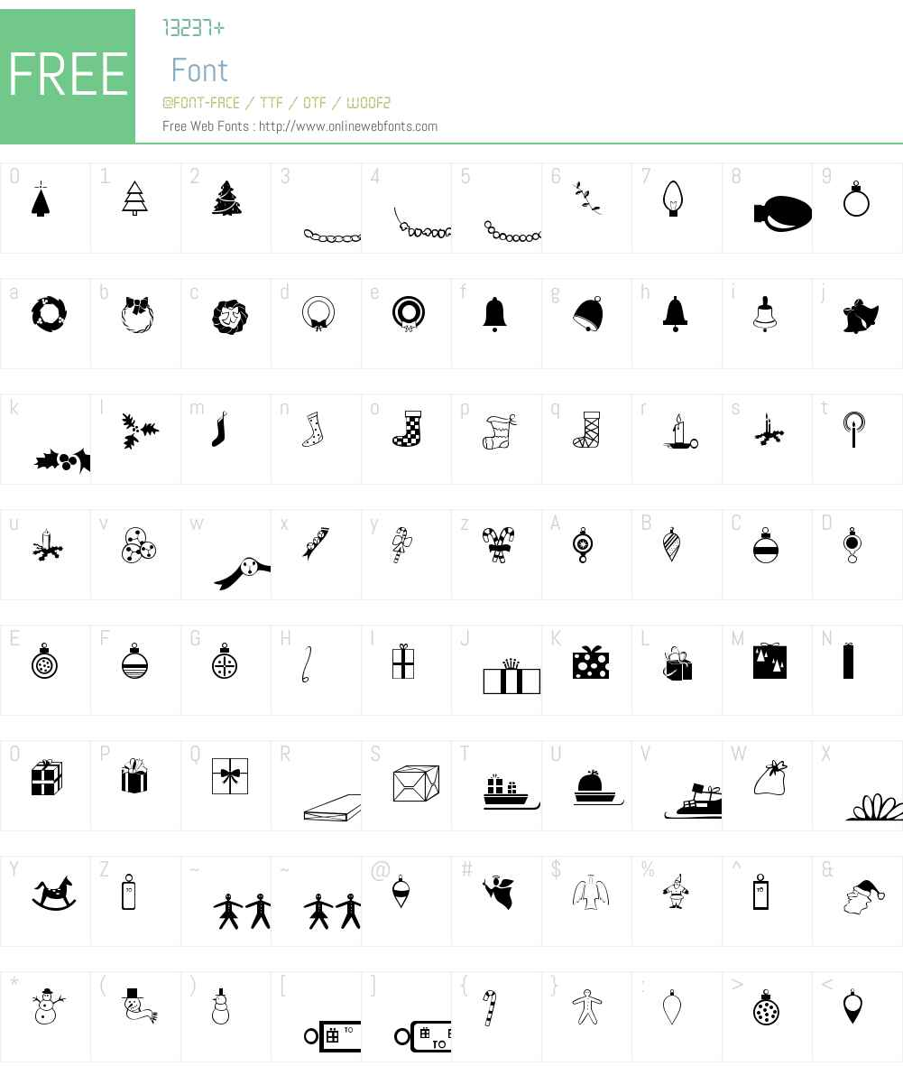 Journal Dingbats 4 Font Screenshots
