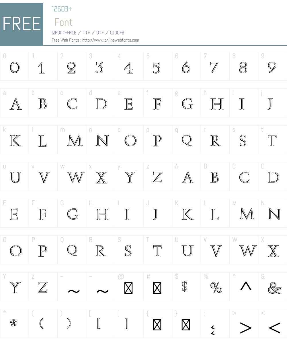 Augustea Open Std Font Screenshots