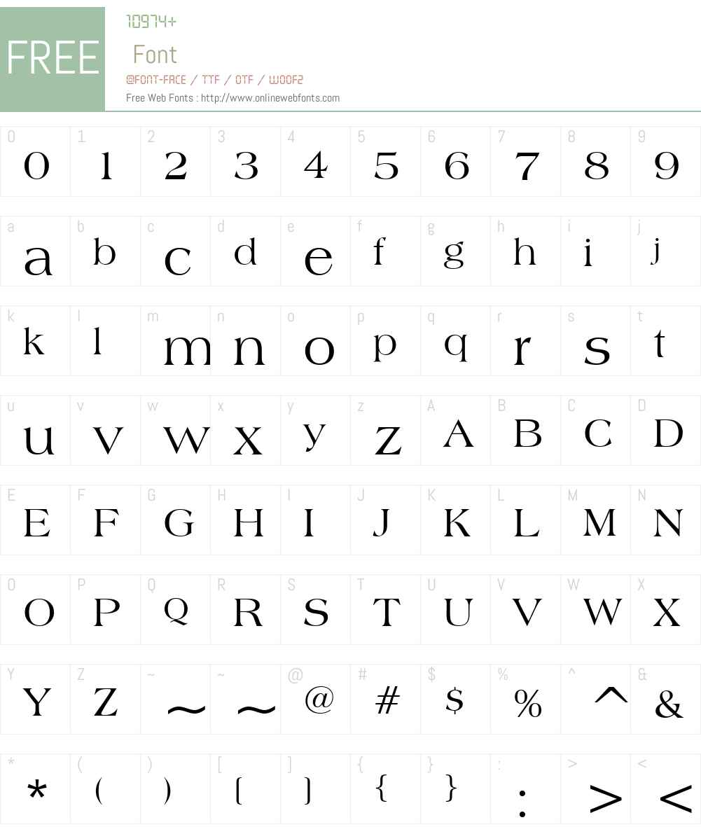 Broadsheet Font Screenshots
