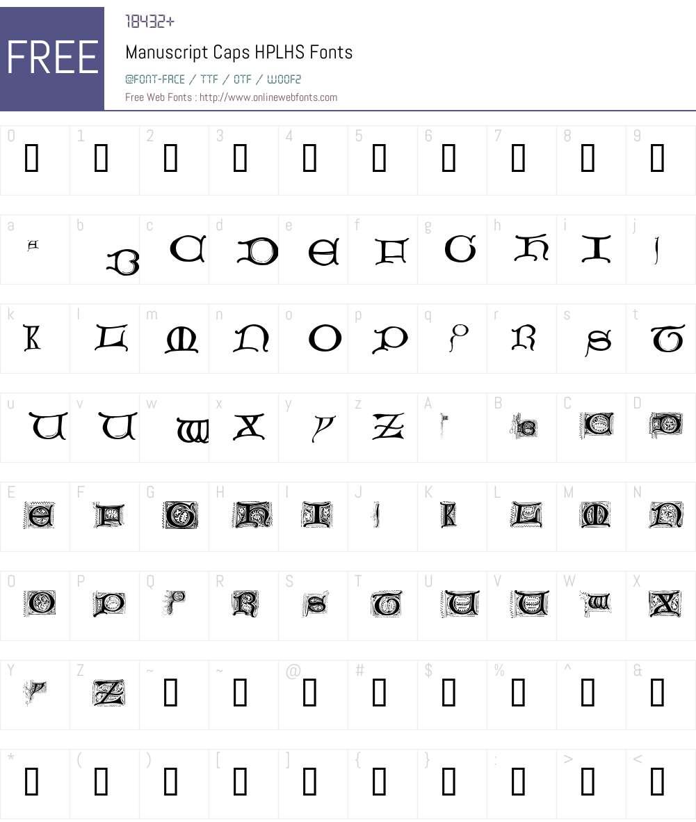 Manuscript Caps Font Screenshots