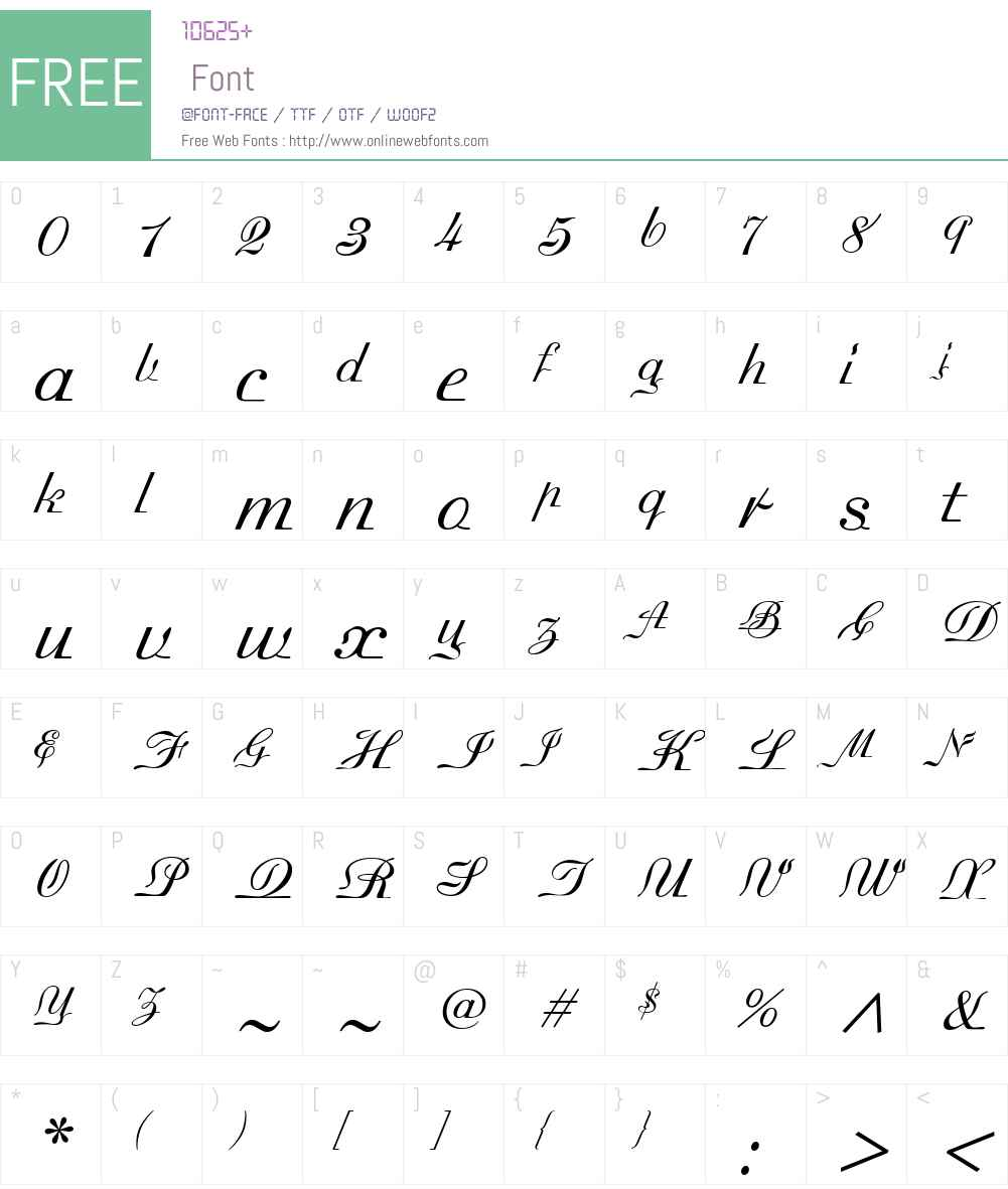 MadisonianLightW00-Regular Font Screenshots