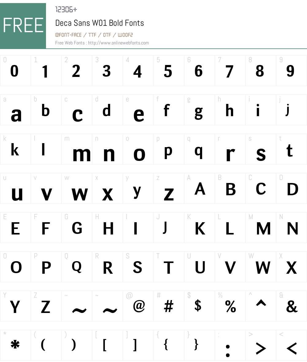 DecaSansW01-Bold Font Screenshots