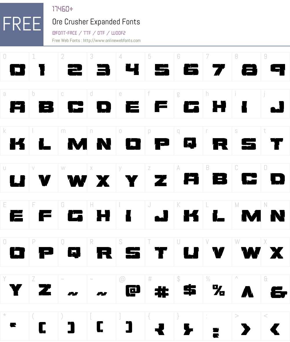 Ore Crusher Expanded Font Screenshots