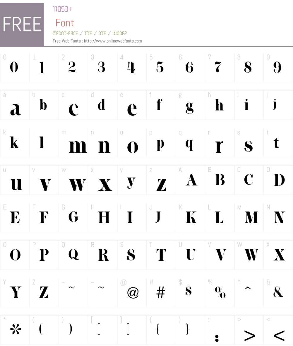 Toms Font Screenshots
