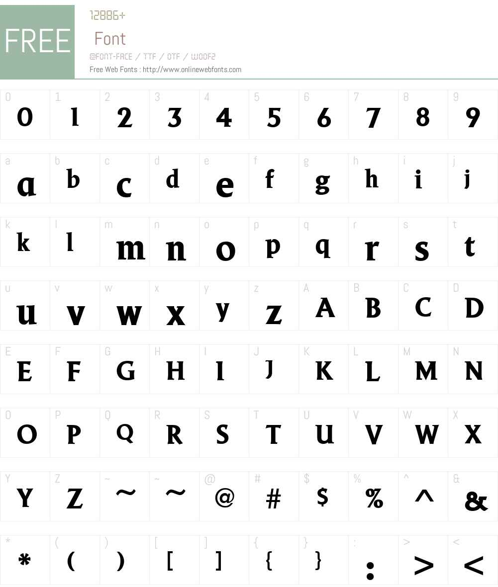 URWBeaconW01-Bold Font Screenshots