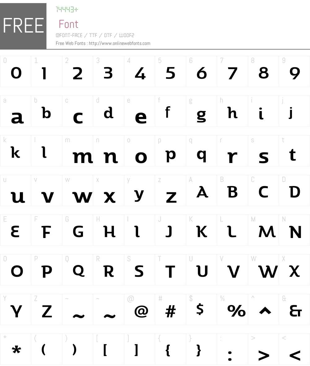 MarintasW01-SemiBold Font Screenshots