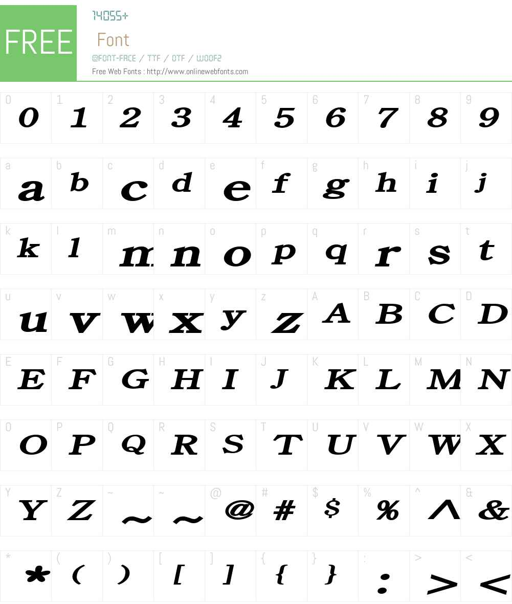Cento Extended Font Screenshots