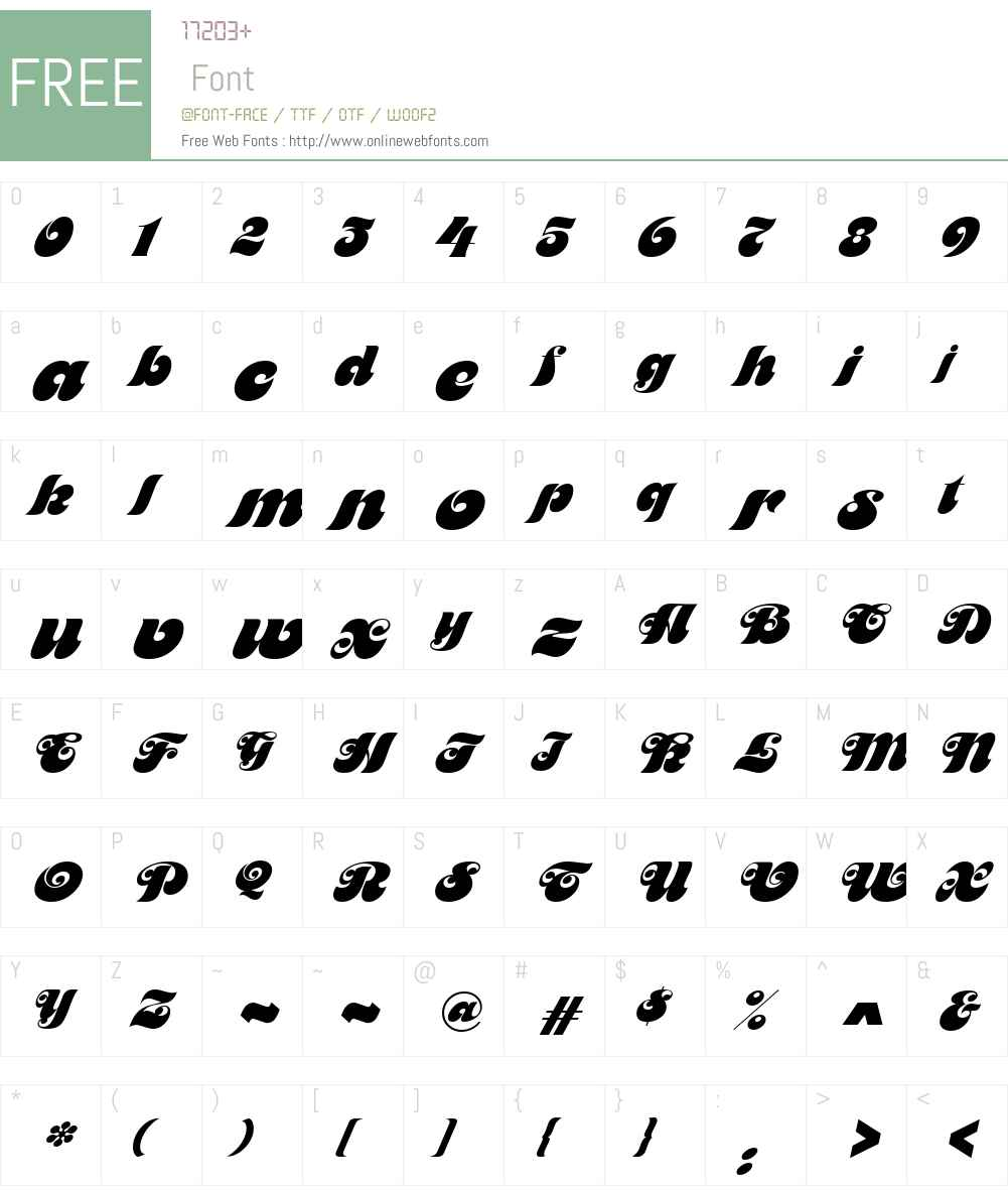 Maitre-d Font Screenshots