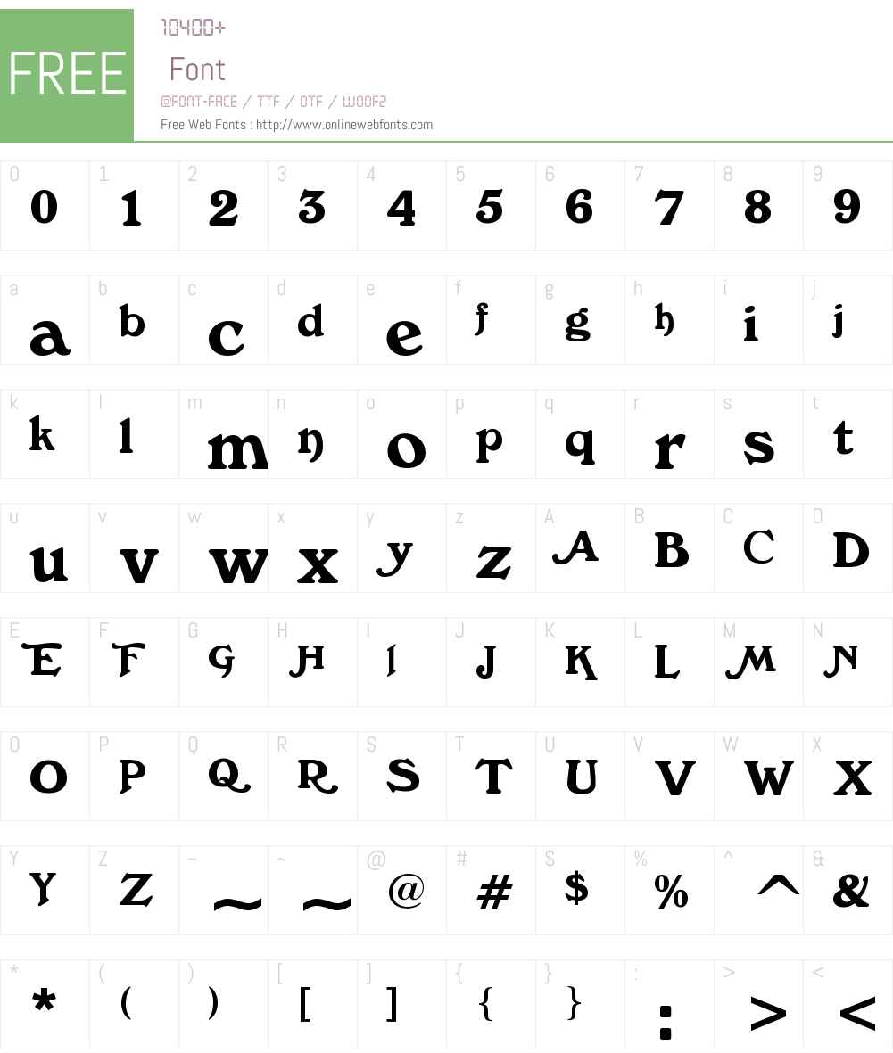 The CheddarCake Factory Font Screenshots