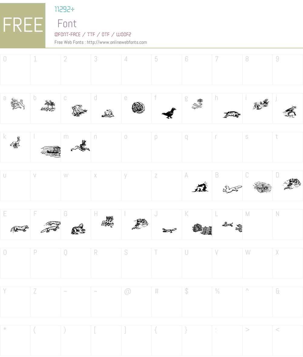 Carta Marina Animals Font Screenshots