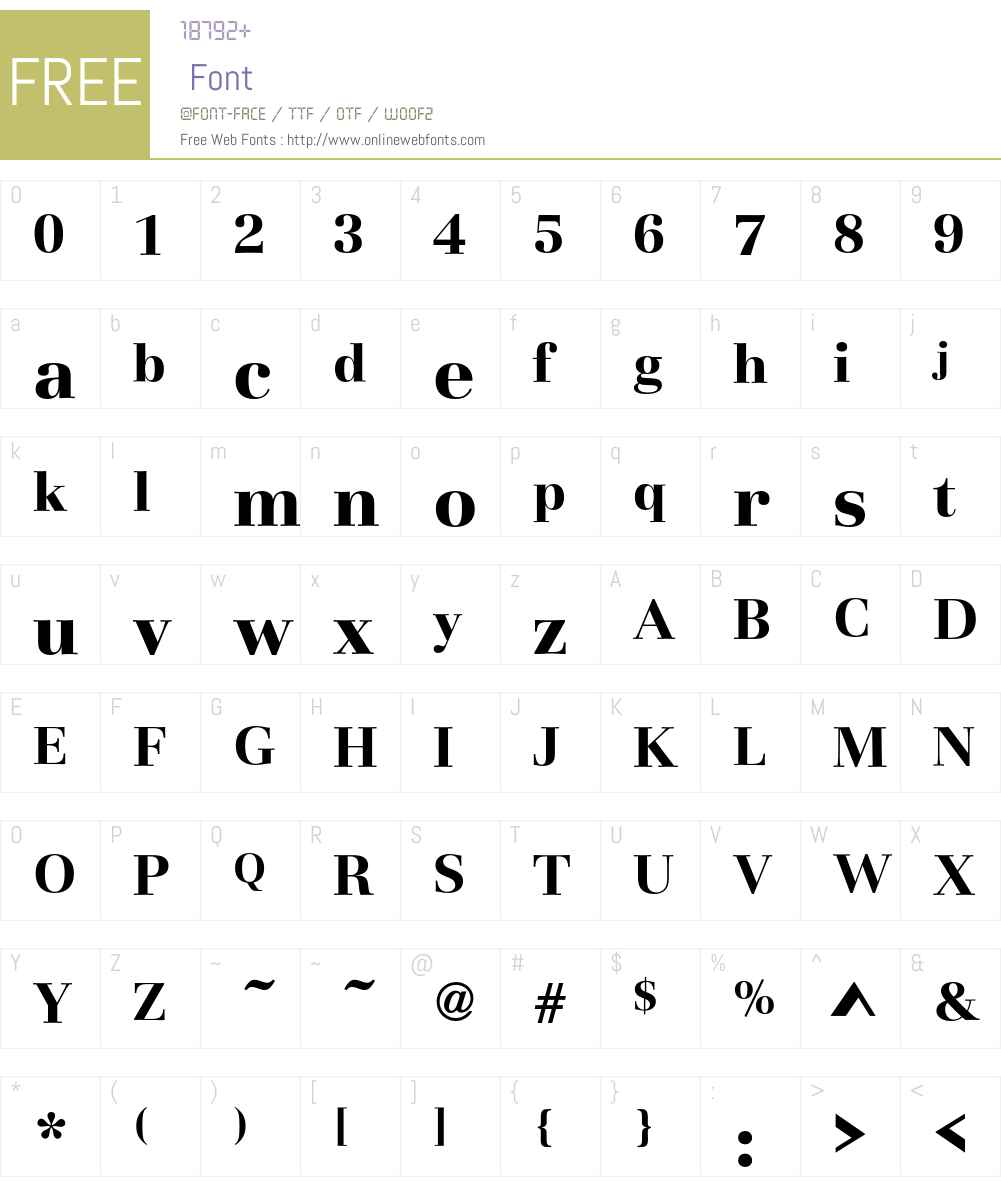 Basilia T Font Screenshots