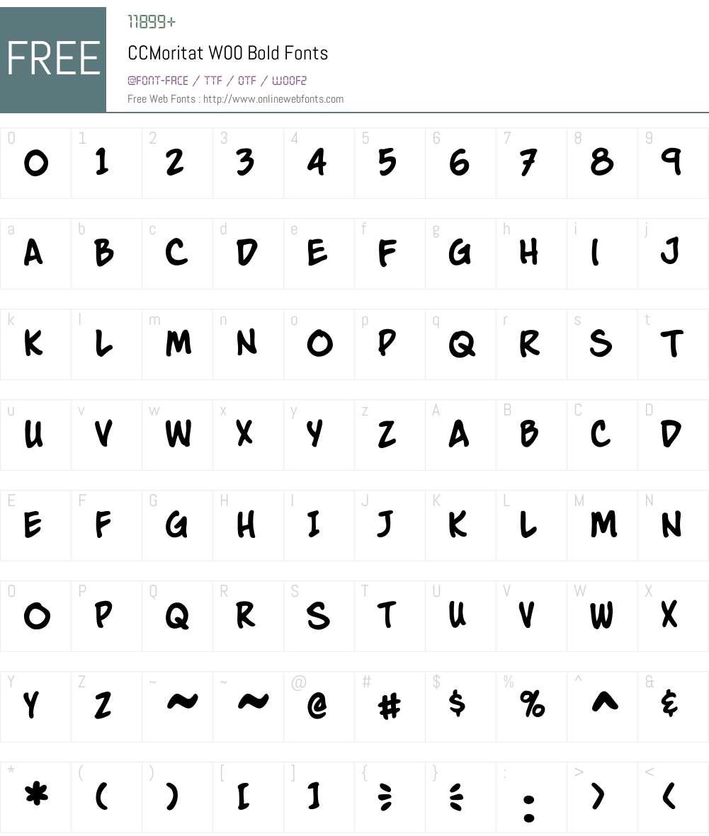 CCMoritatW00-Bold Font Screenshots